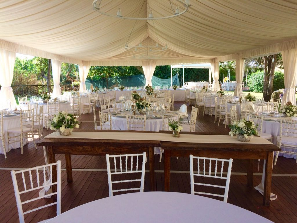 Tensile structure for country wedding