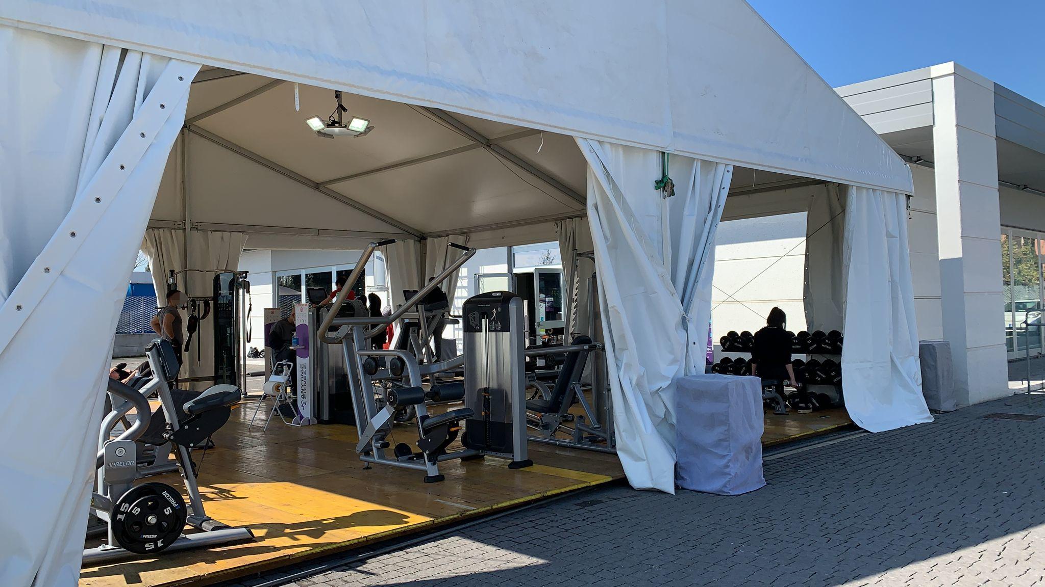 tensostruttura per palestre e centri fitness